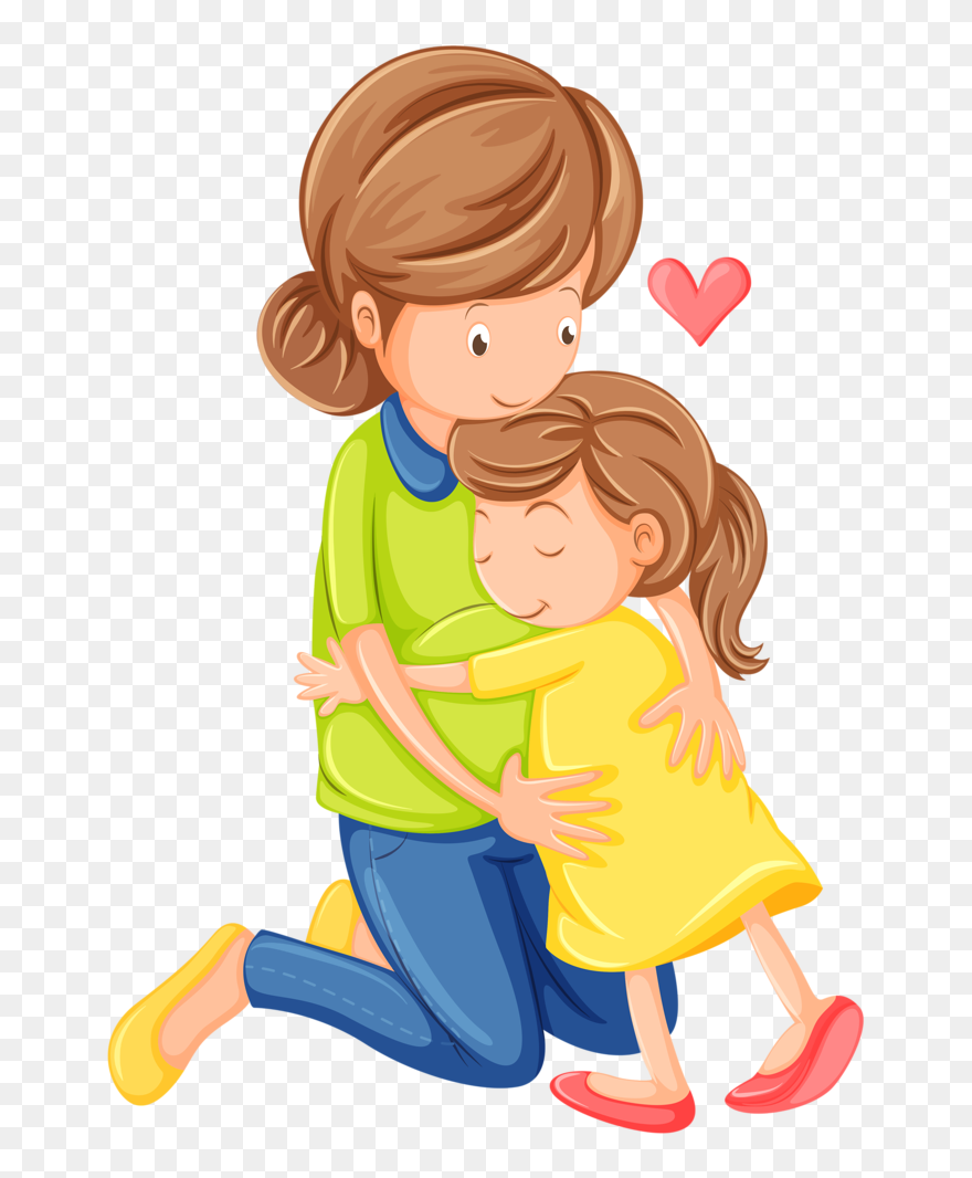 Craft Clipart Kid Clip Art Mom And Child Clipart Png Download