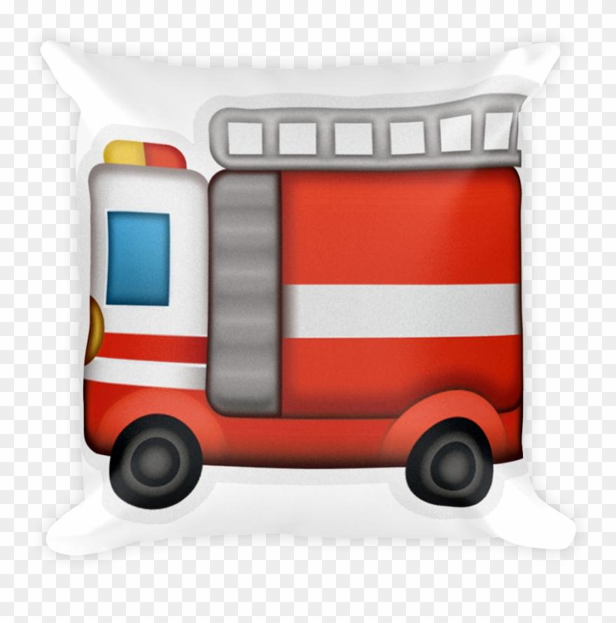 Fire emoji engine. Pillow truck png clipart