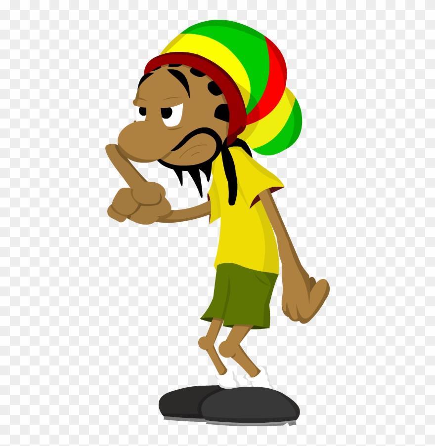 Weed Clipart Rasta Smoking Ganja Cartoon Png Download 703856