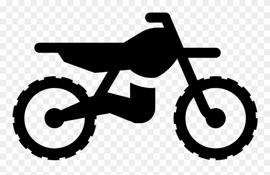 Dirt Bike Clip Art Black And White