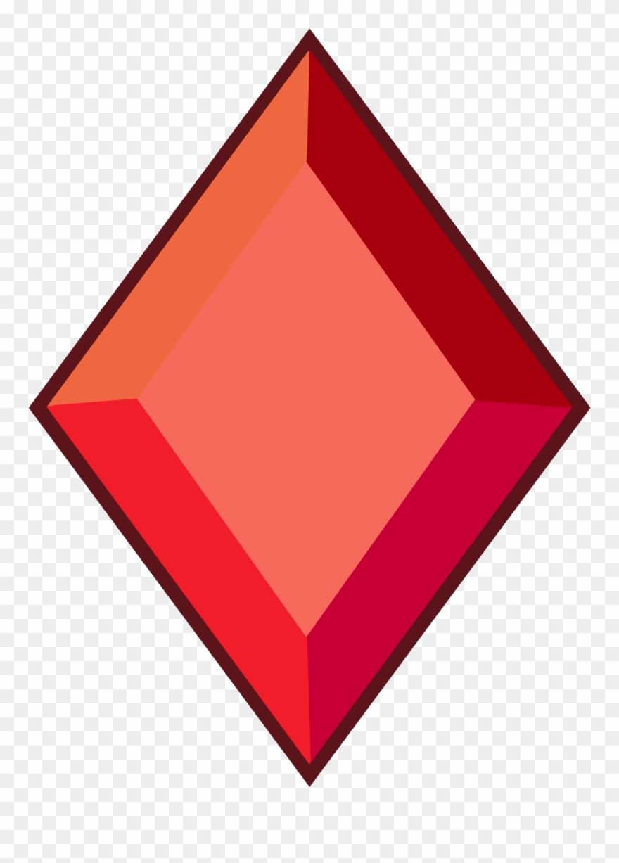 Diamond red PNG Image.