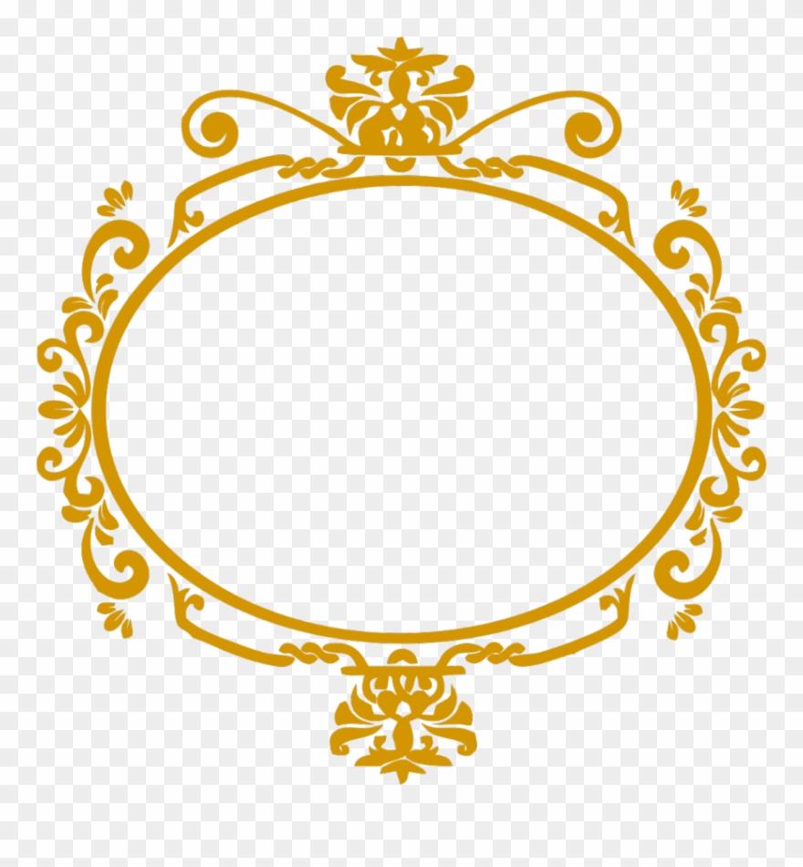 Moldura Arabesco Dourado Png Clipart 707477 Pinclipart