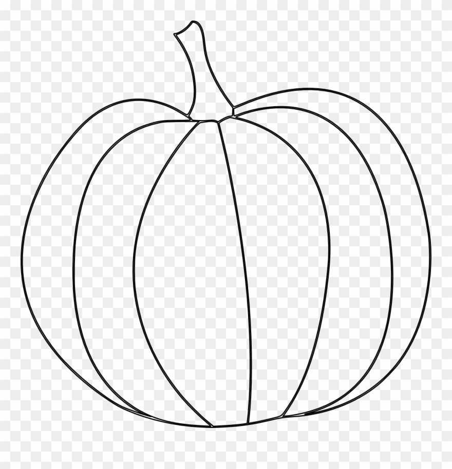 photograph relating to Pumpkin Outlines Printable identified as Pumpkin Template Printable Cost-free - Pumpkin Clipart Black And