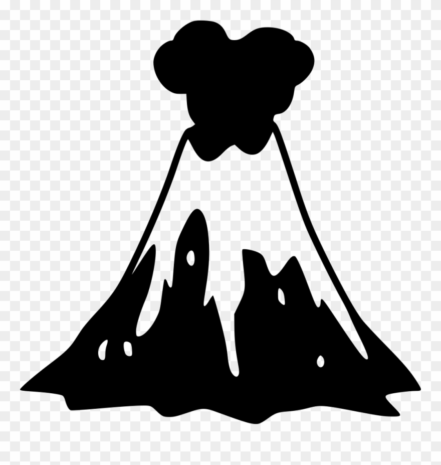 Volcano clipart svg volcano png black and white transparent png