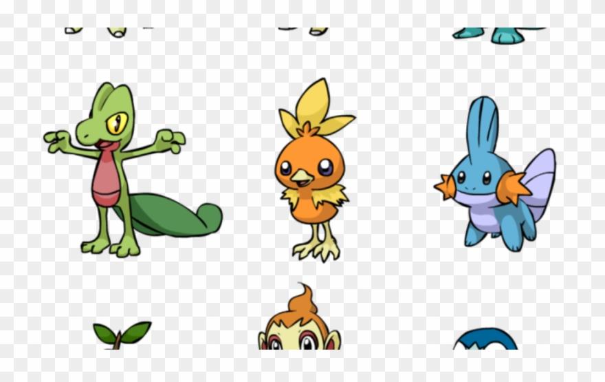 Oshawott Evolution Clipart Pokémon Emerald Pokemon First Gen Starter Chart Png