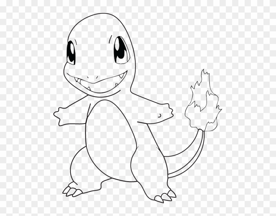 Bumper Clip Broken Pokemon Charmander Coloring Page Png Download