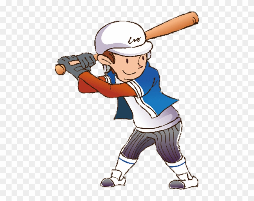 Cartoon Athlete Baseball Cartoon Team Sports Png Clipart 722238 Pinclipart