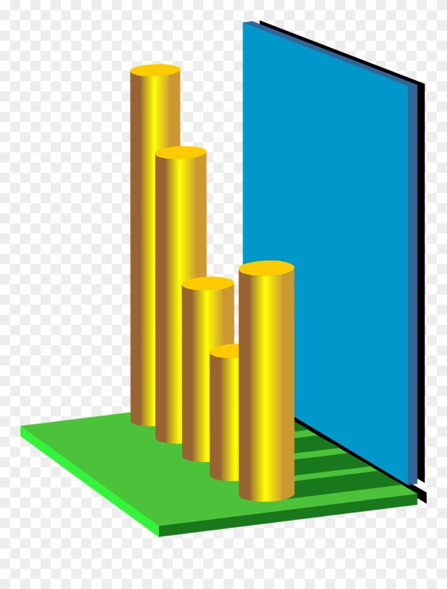3d Graph Png - Bar Graph 3d Transparent Background Clipart