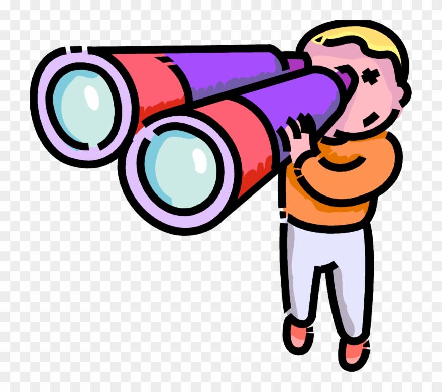 Vector Free Stock Boy Looks Through Binoculars Binoculars Clip Art Png Download 729413 Pinclipart