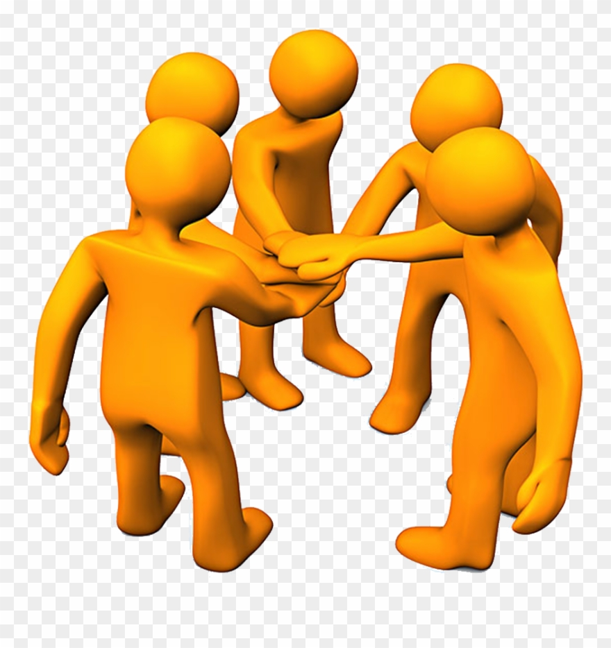 Clipart Hand Teamwork - Team Work - Png Download