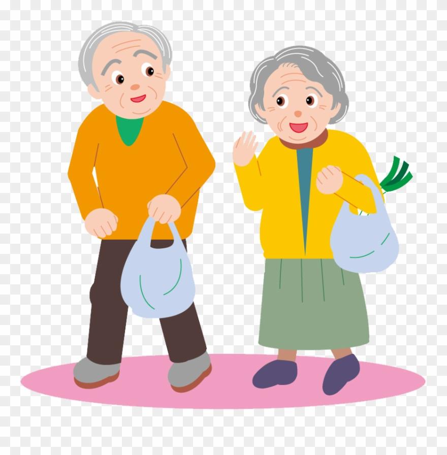 Couple Drawing Cartoon Clip Art Elderly Elderly Clipart Png Download 732396 Pinclipart