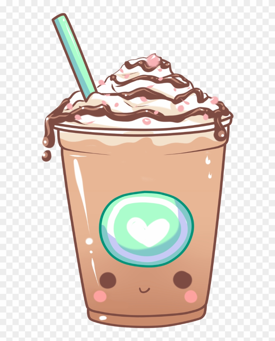 Coffee Clipart Iced Coffee - Iced Coffee Kawaii - Png ...