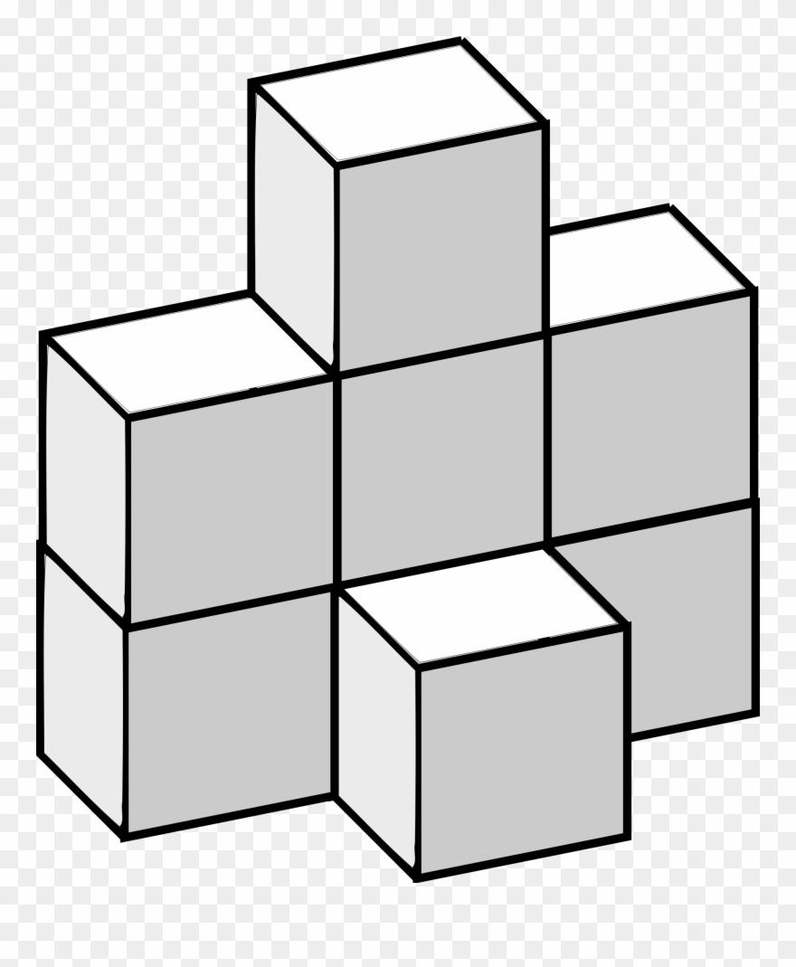 Paper Origami Mathematics Cube Burr Puzzle - Math Cubes Clip