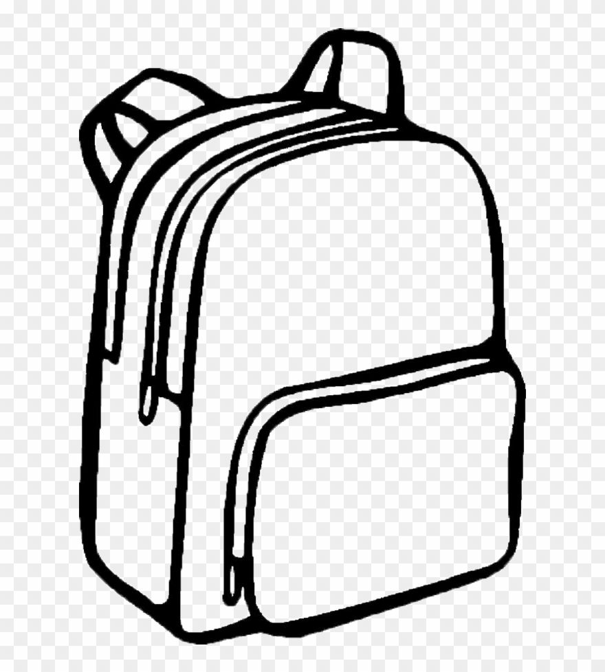 Backpack Coloring: Svg Library Download Collection Of Free Backpack Drawing