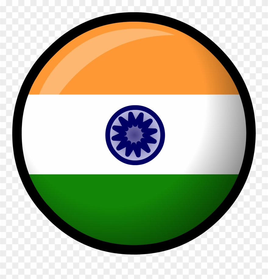 Image India Flag Clothing Icon Id 527 Png Club Penguin - Circle Indian Flag Transparent Clipart