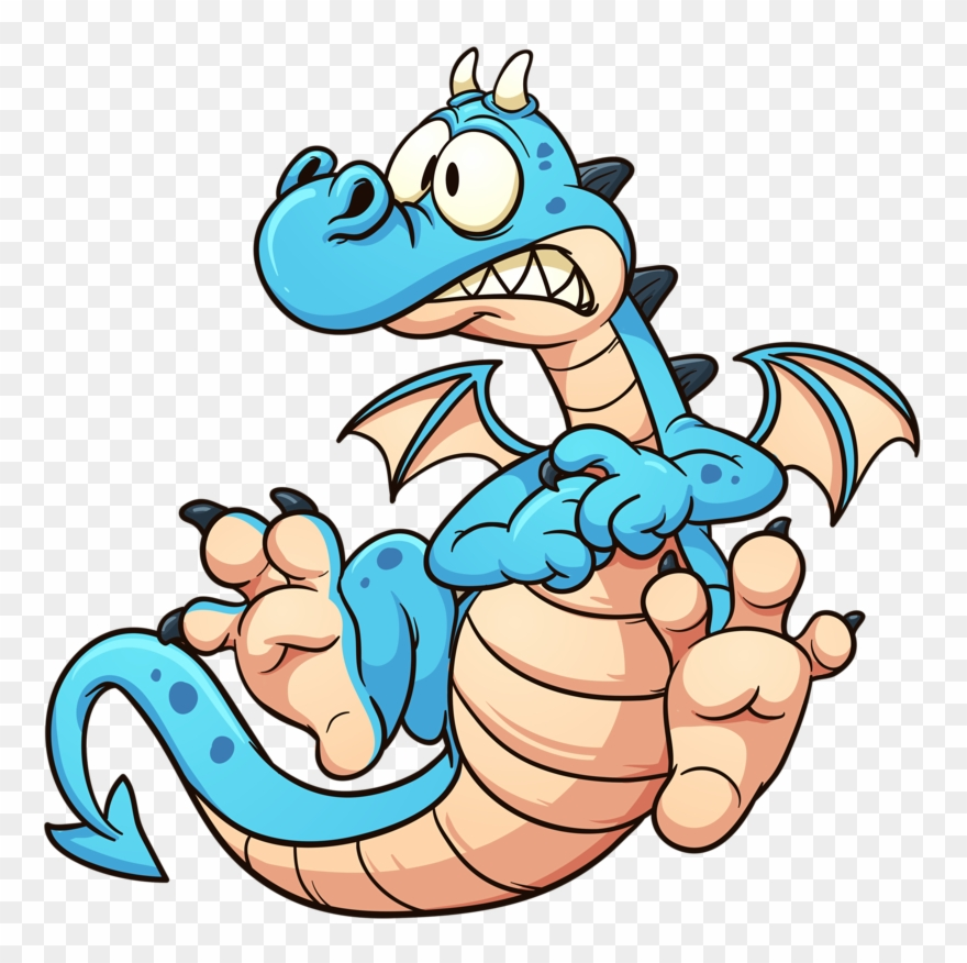 Dragon sad. Soloveika cartoon clipart