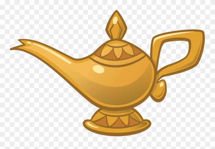 Genie Mr Peabody S By Mead On - Disney Aladdin Lamp Png ...