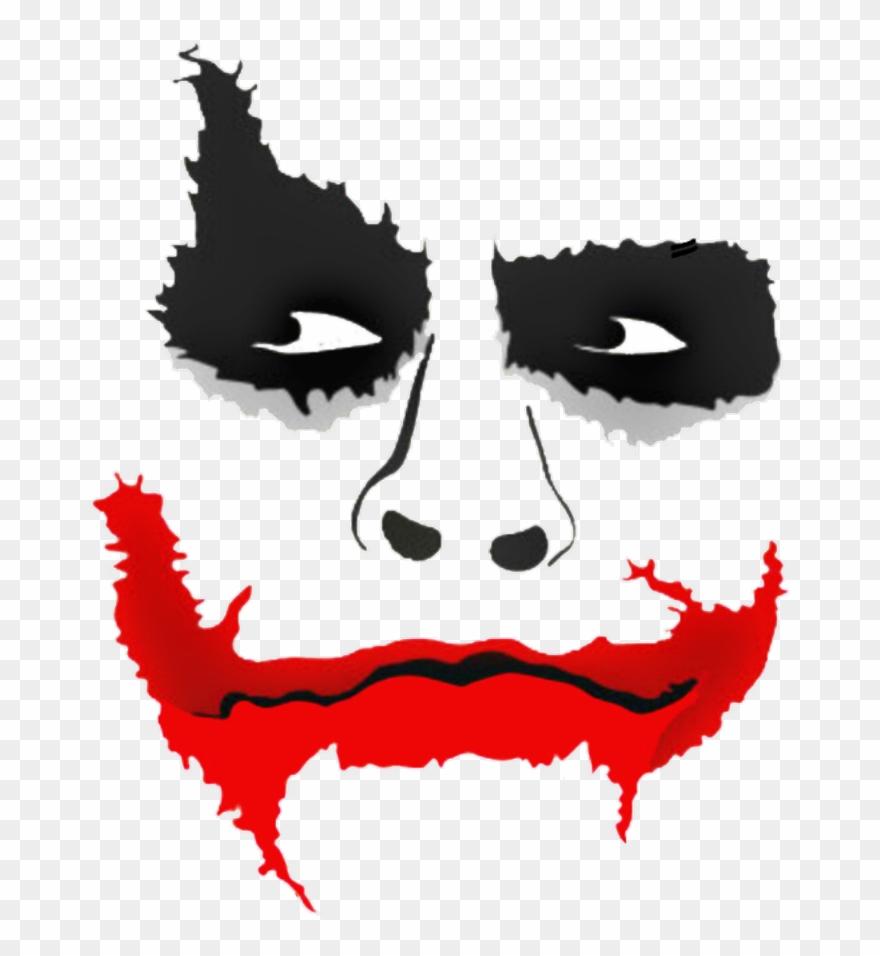 Joker Clipart Lips Picsart Joker Face Png Transparent Png