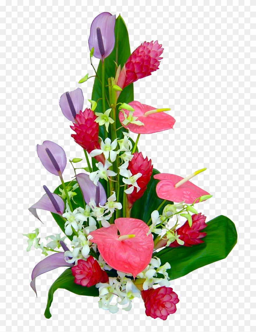Lahaina Orchid Tropical Hawaiian Flowers Hawaiian Transparent Tropical Bouquet Png Clipart 745696 Pinclipart