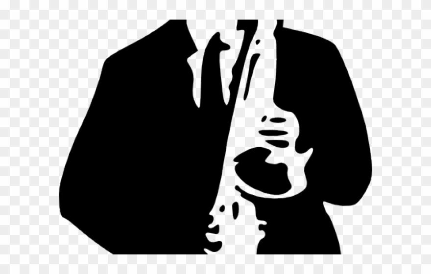 Saxophone Clipart Small Dibujos De Musicos Blanco Y Negro Png
