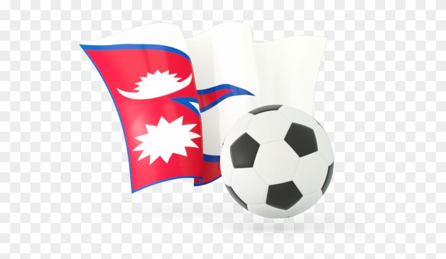 Nepal Flag Football Clipart (#747260) - PinClipart