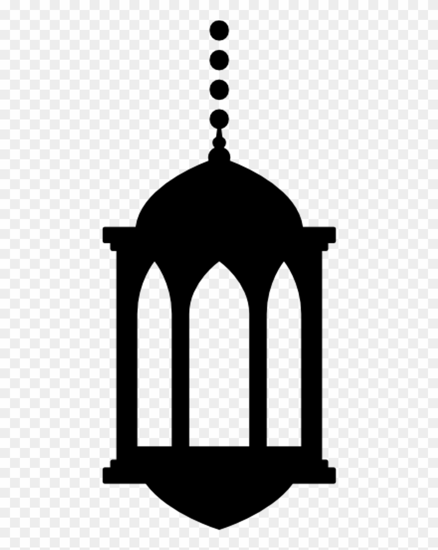 Silhouette Ramadan Lantern Png Clipart