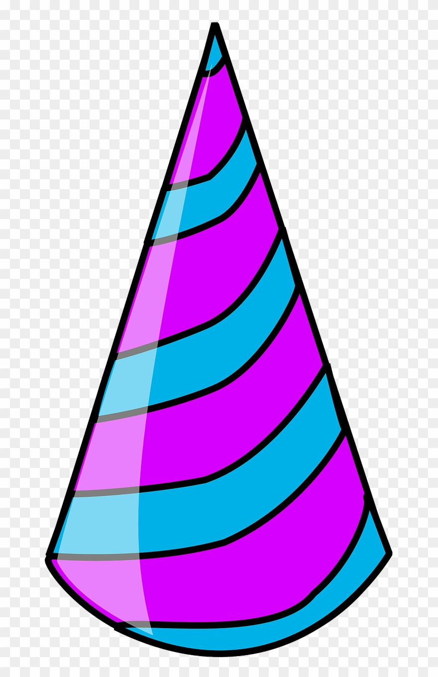 Party Hat Blue And Purple Clipart