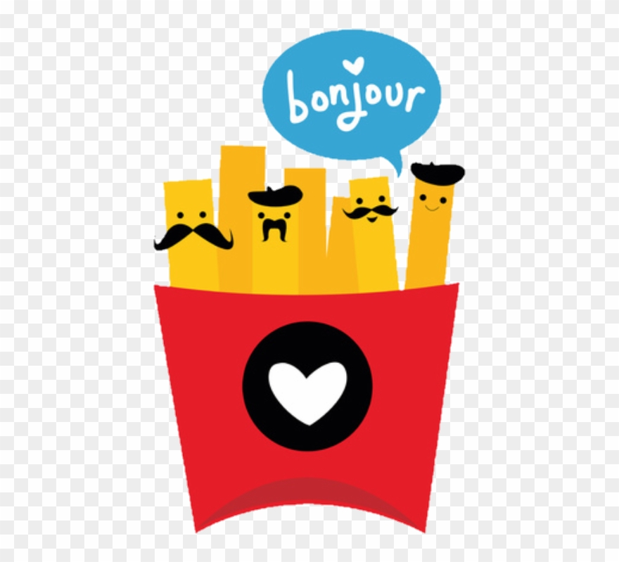 Ftefrenchfry Frenchfry Frenchfries Bonjour Food Cute Cartoon French Fries Clipart 753658 Pinclipart