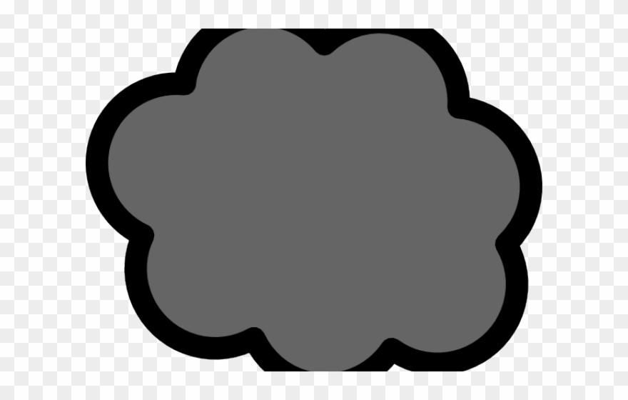 Puff smoke. Gray clipart clip art