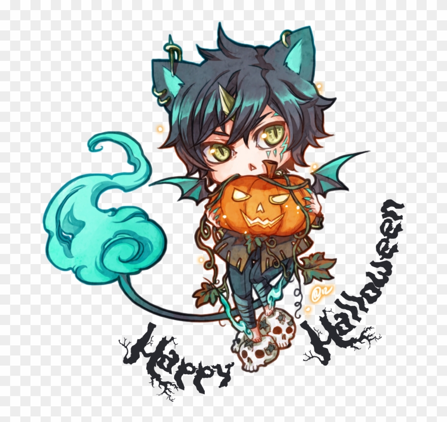 Download Picture Transparent Stock Free Cliparts Download Happy Halloween Anime Chibi Png Download 756512 Pinclipart