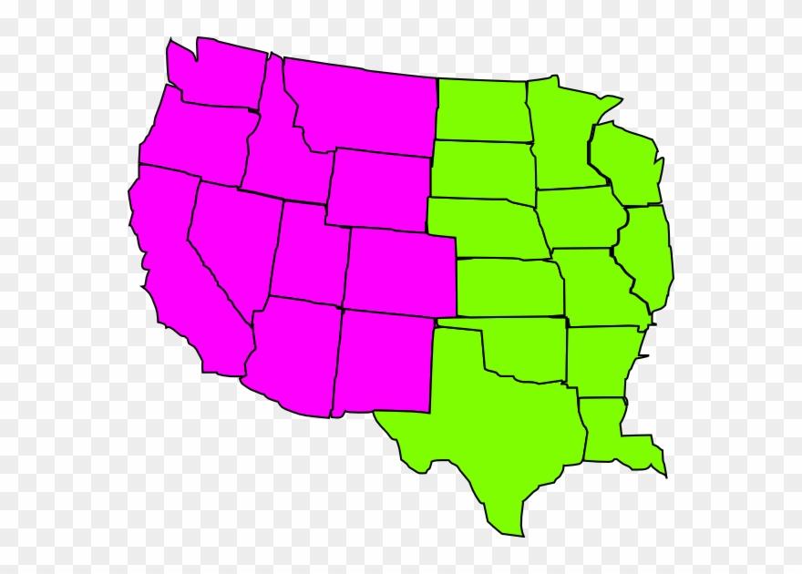 Us Map Regional Clip Art At Clker - Blank Us Map Western ...