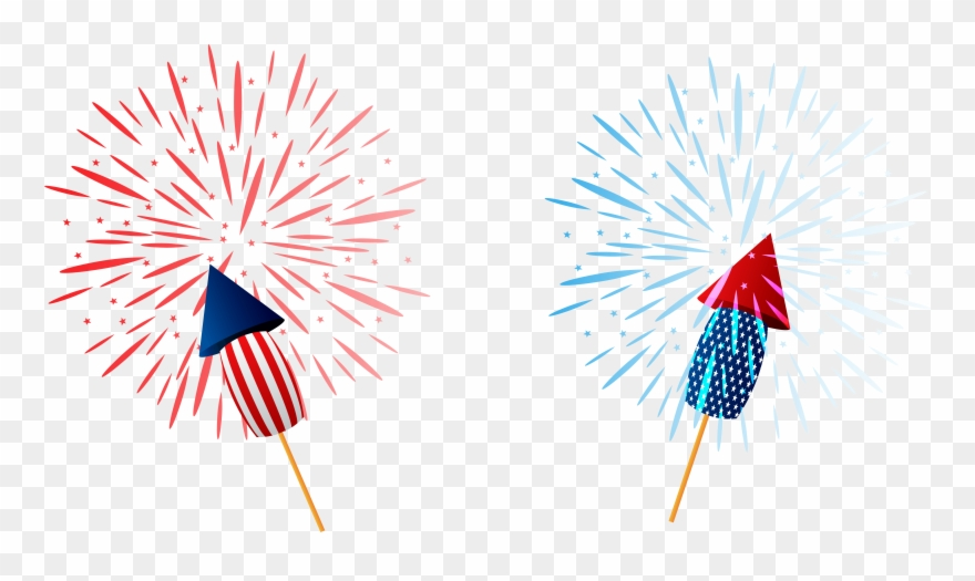4th of july clear background. Sparklers png clipart image