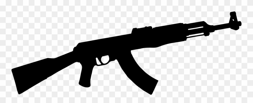 Free Ak Cliparts Download Clip Art On - Ak 47 Black Png