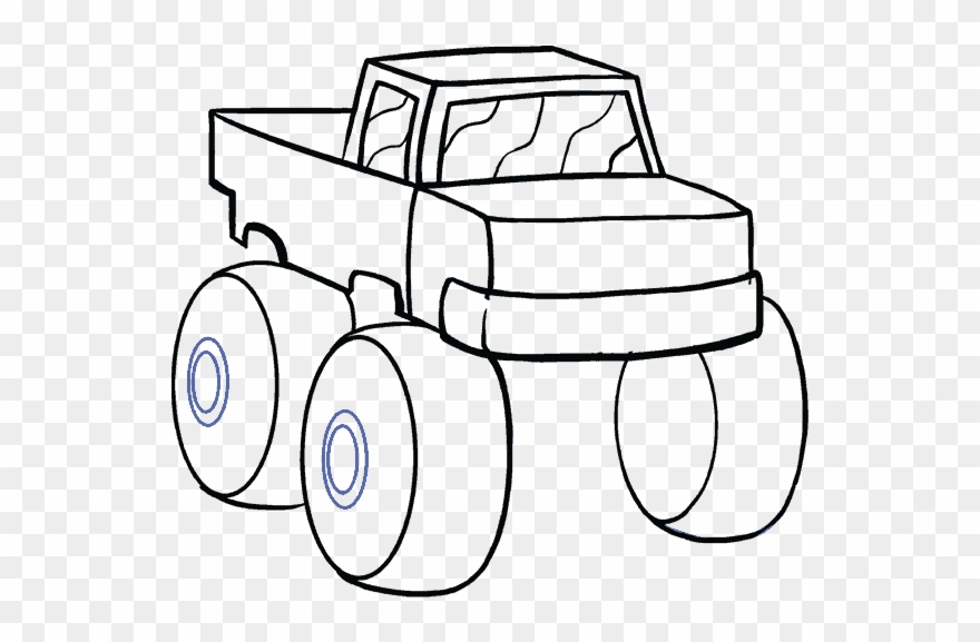 Truck Line At Getdrawings Draw A Monster Truck Easy Clipart 764543 Pinclipart