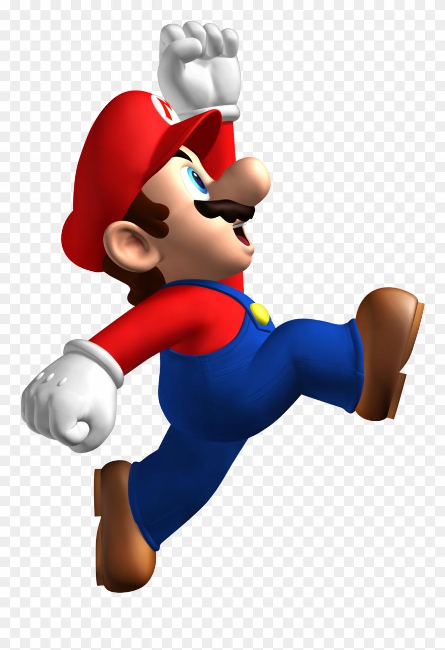 Mario jumping. New super bros wall