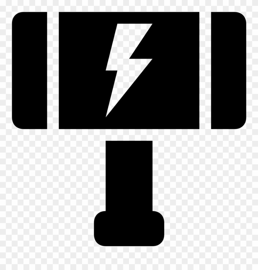 Weapon Clipart Thor - Martillo Thor En Blanco Y Negro - Png
