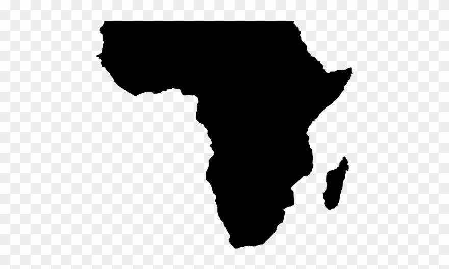 Africa Clipart   African Map Black And White   Png Download