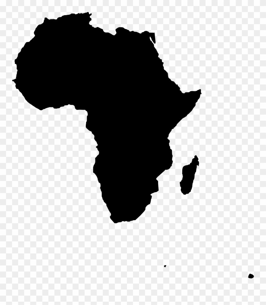Map Of Africa Clipart   Africa Map Vector Png Transparent Png
