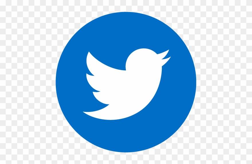 Twitter bird. Moran link logo circle