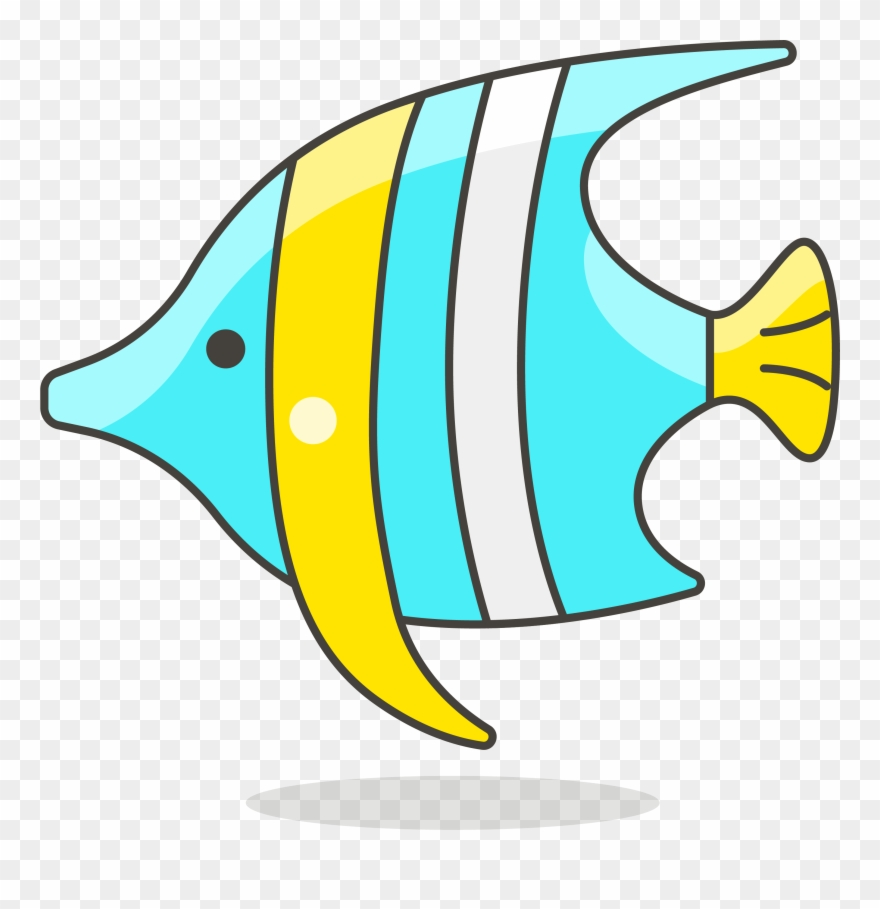 Fish tropical. Clip art simple lovely