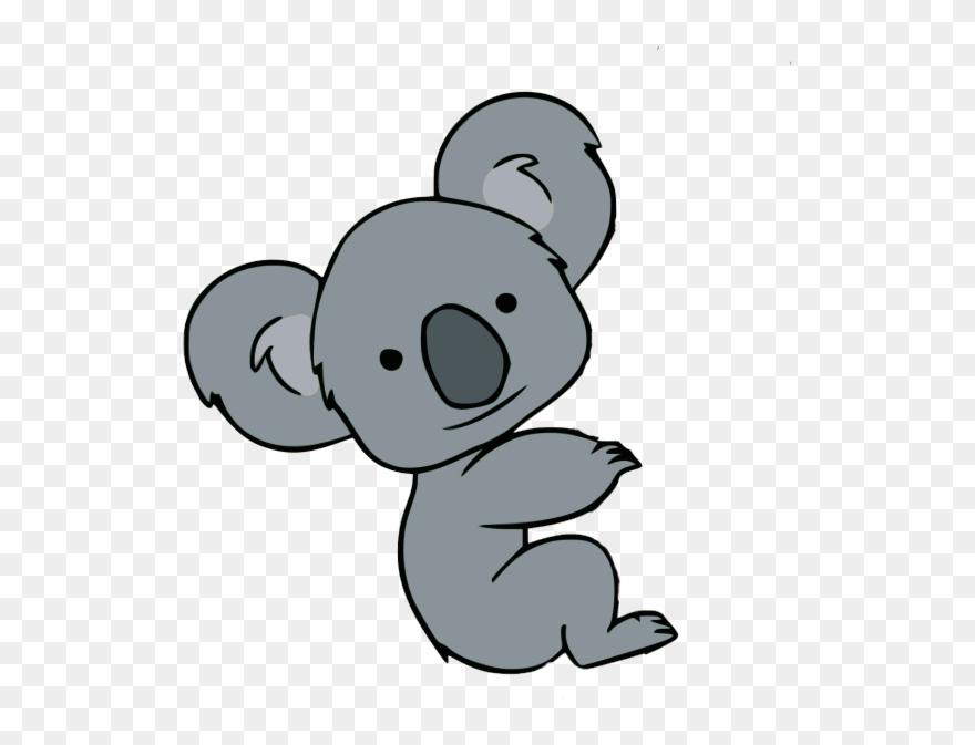 Koala Clipart Athlete Koala Cartoon Easy Drawing Png Download