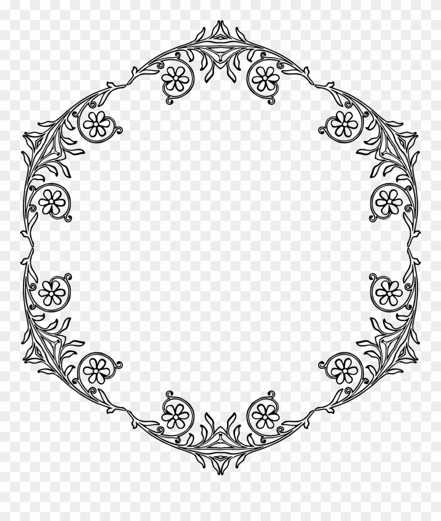 Big Image Floral Circle Vector Png Clipart 796021 Pinclipart