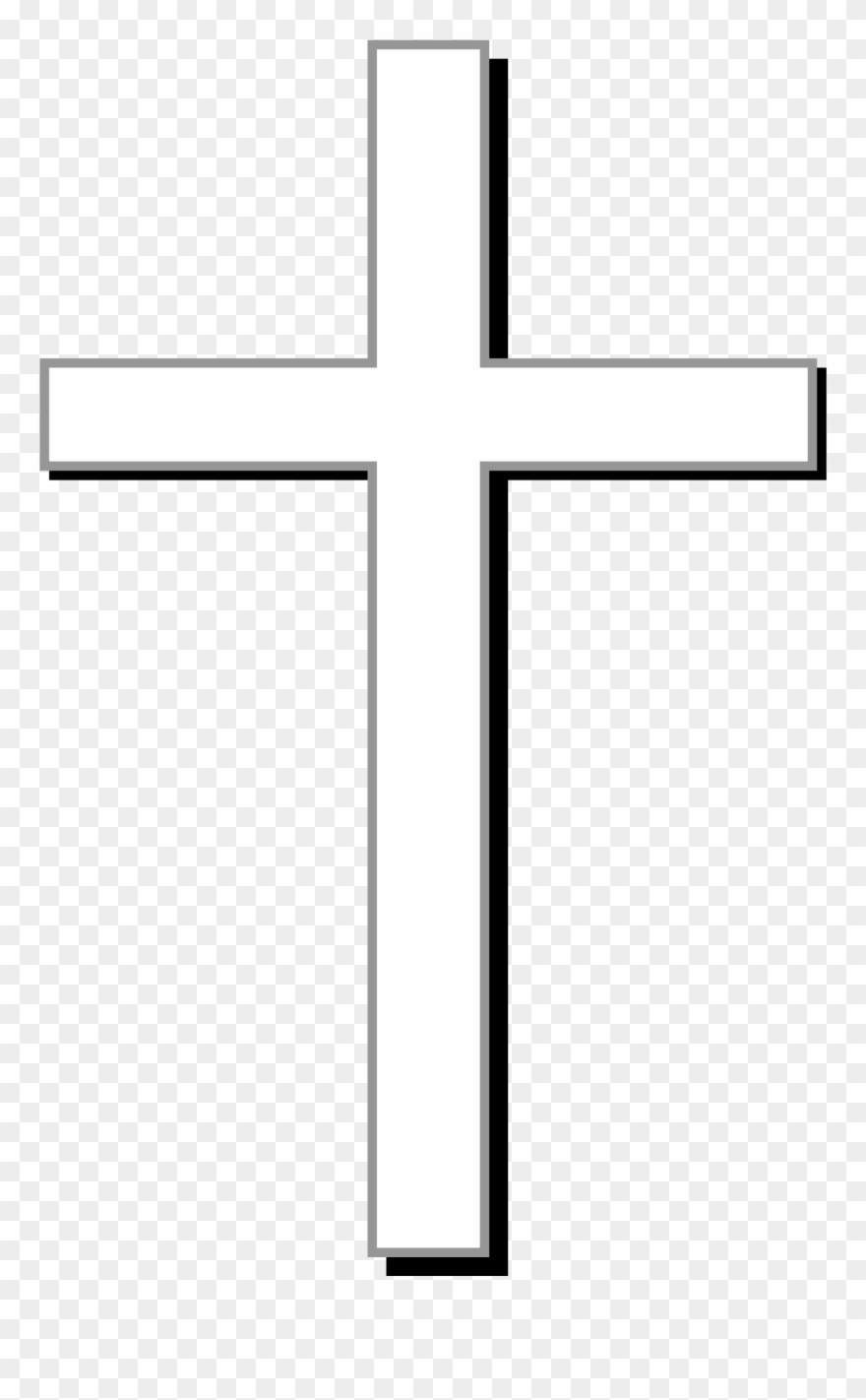 graphic about Printable Cross Pictures called Gravestone Clipart Printable - White Cross Clear