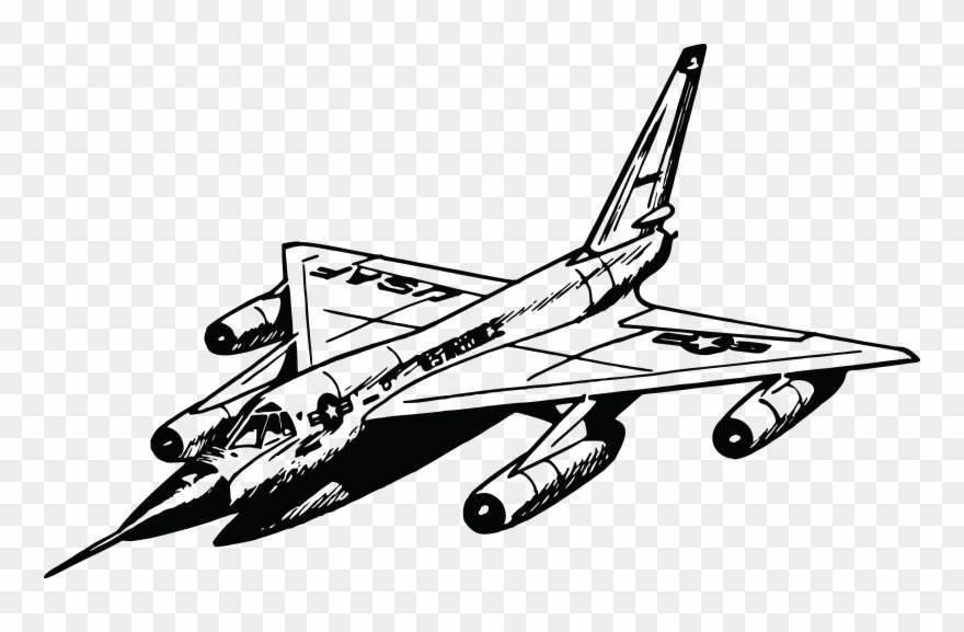 Free Clipart Of A Military Jet
