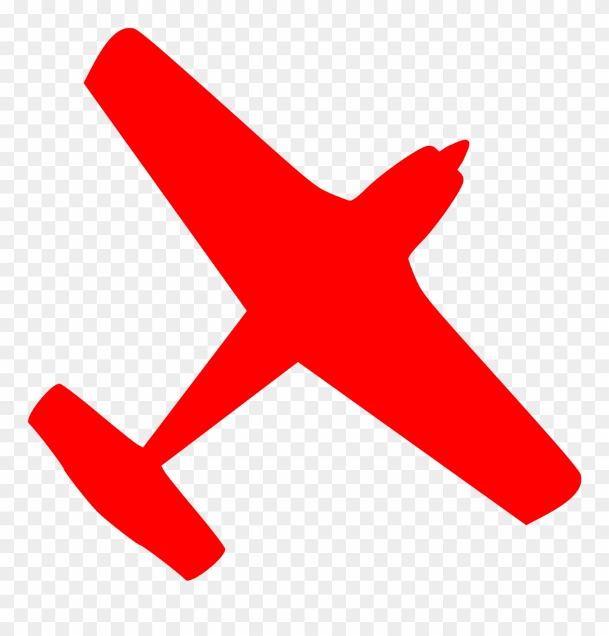 Airplane red. Jet clipart plane cessna