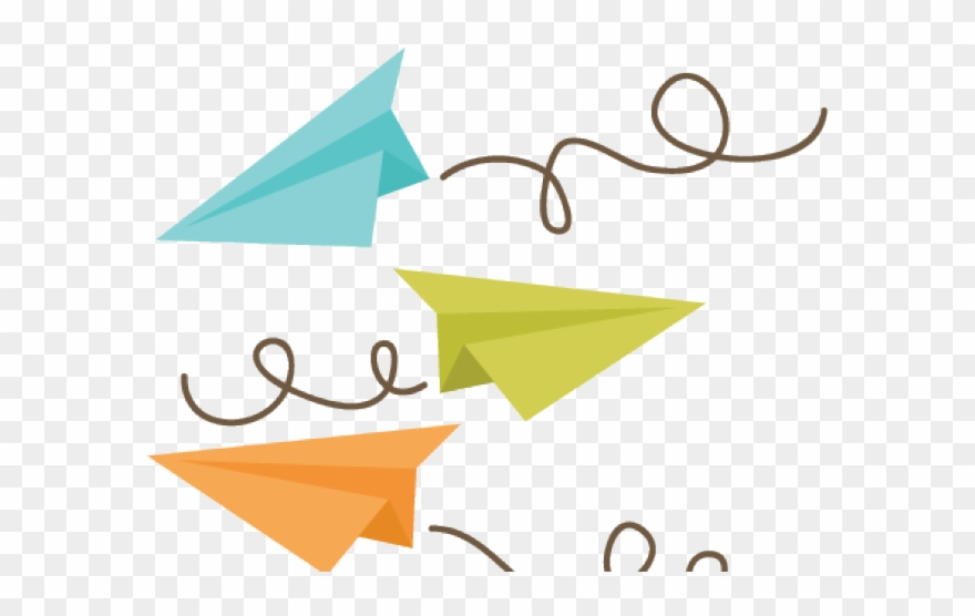 Jet Clipart Cute Paper Airplane Flight Png Transparent Png