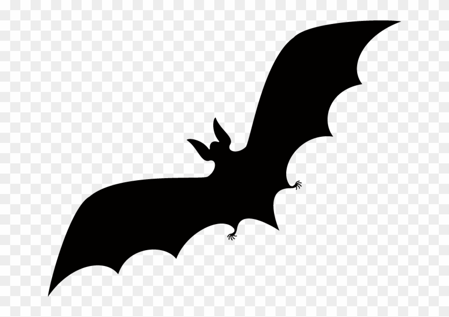 Halloween Bat Silhouette - Jack O Lantern Silhouette Clipart