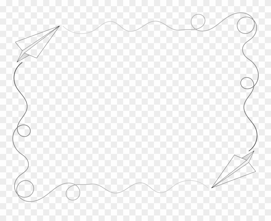 Microsoft Clipart Airplane - Paper Airplane Page Border