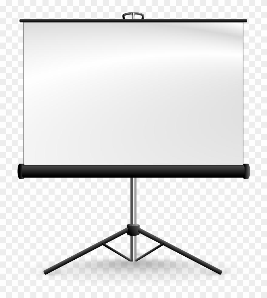 Computer Screen Clipart - Projector Screen Png Vector Transparent Png