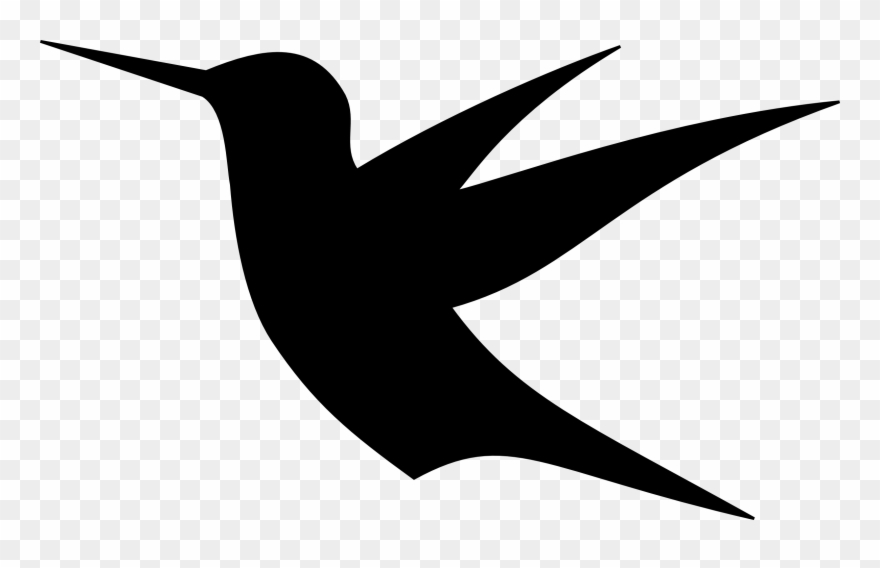 Birds Drawing Hummingbird 4 Clip Art Flying Bird - Bird Silhouette